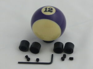 Custom Pool Billiard Ball 12 Purple Stripe Gear Shifter Shift Knob