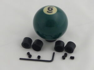Custom Pool Billiard Ball 6 Solid Green Gear Shifter Shift Knob