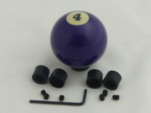 Custom Pool Billiard Ball 4 Solid Purple Gear Shifter Shift Knob