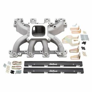 Edelbrock 29086 Sbc Ls1 Victor Jr Efi Intake Manifold Fuel Injected Multi port