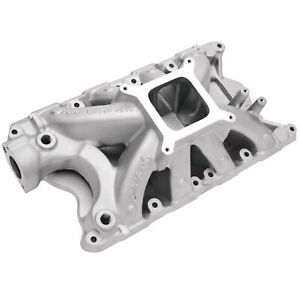 Edelbrock 2924 Sbf Super Victor Intake Manifold Fits 9 5in Deck Only Square Bore