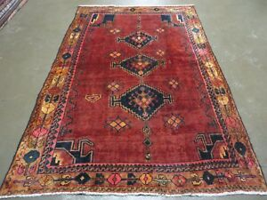 5 X 7 Antique 1920 Hand Made Persian Kurd Bidjar Bijar Wool Rug Veg Dye Nice