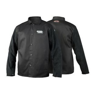 Lincoln Electric K3106 xl Traditional Split Leather Sleeved Welding Jacket Xl