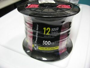 500 Roll Southwire Solid Insulated Thhn Copper Wire Red 12 Awg Gauge