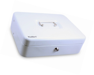 Kolibri Cash Box With Coin Tray And Lock white