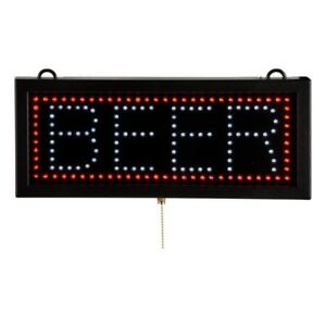 Nib 6 3 4 X 16 1 8 Led Beer Sign Commercial Bright Animated Display Signage