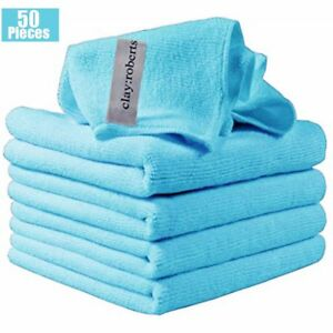 50 Sets Microfiber Cleaning Cloth Towel No Scratch Rag Car Polishing Detailing H