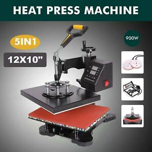 5 In 1 Digital Heat Press Machine 12 X 10 for T shirt mug plate Hat Printer