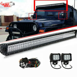97 06 Jeep Tj Wrangler Windshield Mount Bracket 50 Inch Led Light Bar wiring Kit