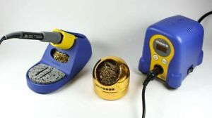 Hakko Fx888d 23by 599b 02 Soldering Station With 599b Tip Cleaner Blue gold