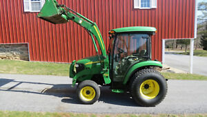 2007 John Deere 3520 4x4 Compact Utility Tractor W Cab Loader Hydro 1200 Hrs