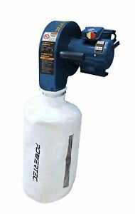 Powertec Dc5370 Wall Dust Collector With 2 5 Micron Filter Bag
