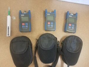 Lot Of 3 Tl510 Digital Optical Fiber Optic Power Meter Handheld Testing Tool