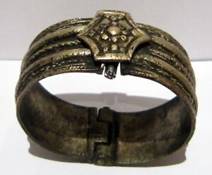 Post Medieval Or Byzantine Silver Two Parts Bangle Artifact Ancient Bracelet 34b
