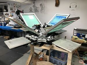 This Made Me Over 15 000 Vastex V100 4 Color 4 Station Table Top Press