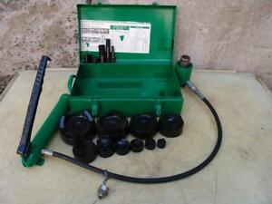 Greenlee 7310 Hydraulic Knockout Punch And Die Set 1 2 To 4 5 21 1