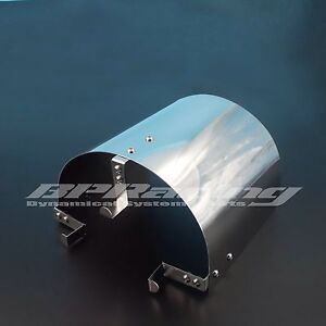 135mm Tall Stainless Steel Air Filter Heat Shield For 2 25 To 3 5 Cone Filter