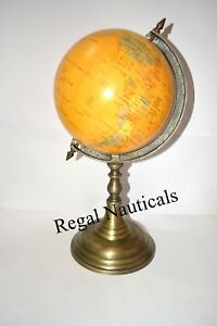 Nautical Authentic Models For Student Small Globe With Brass Base Globe
