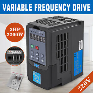2 2kw 220v 3hp Single Phase Variable Frequency Inverter Motor Speed Drive