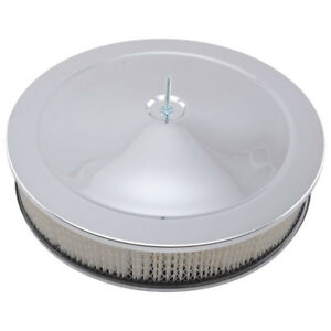 Rpc Air Cleaner Assembly R2195 Muscle Car Chrome Steel Round 14 000 3 000