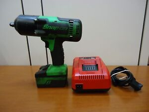 Snap On 18v 1 2 Green Impact Wrench W Charger Ct8850g Ctc720