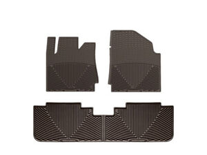 Weathertech All weather Floor Mats For Cadillac Srx 2010 2016 1st 2nd Row Cocoa