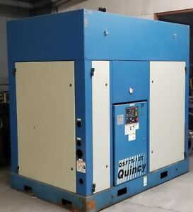 Quincy Rotary Screw Air Compressor Model Qsf 75hp Used