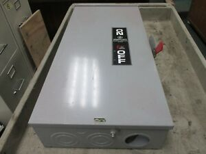 Ge Fusible 3r Safety Switch Tg4324r 200a 240v 3p Used