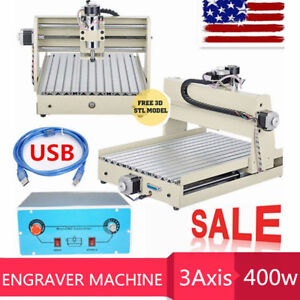 Usb 3 Axis Cnc Router 3040 Engraver Drilling Milling Machine Kit Diy Engraving