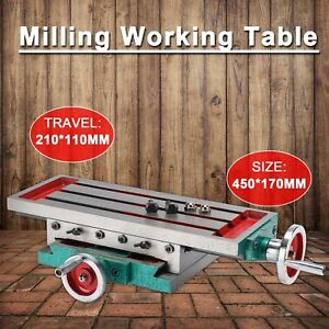 17 7 X 6 7 Milling Machine Bench Drill Vise X Y axis Adjustment Table