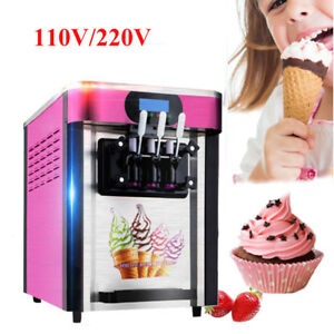 Ice Cream Machine 3 Head 20l Making Machine Commercial Standing Type Free Dhl