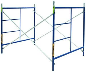 Scaffold Set Cross Braces 5 Ft X 5 Ft X 7 Ft Interlocking Frames Steel