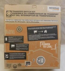 Generac 30 amp Power Transfer Switch System 6 10 Ckts For Portable Generator