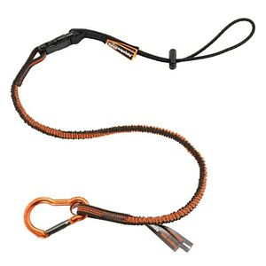 Ergodyne Squids 3102f x Shock Absorbing Tool Lanyard With Detachable End Gray