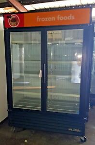 True 2 Door Freezer Commercial Freezer Used Glass Door Freezer Display Case