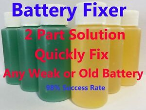 Forklift Battery Repair Liquid Solution 48 Volt 48 Bottles Deka Crown Hyster