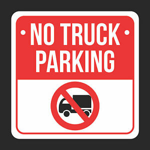 No No Truck With Print Black And Red Metal Square Sign 2 Pk Of Signs 12x12