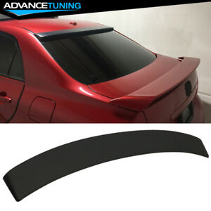 Fits 09 13 Toyota Corolla Rear Roof Spoiler Abs Unpainted Black