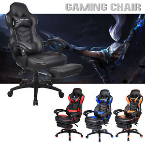 Gaming Racing Chair Computer Office Recliner High Back Seat Leather Adjustable