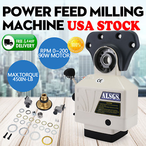 Alsgs Power Feed For Vertical Milling Machine 110v X Y Axis Al 310sx In Usa