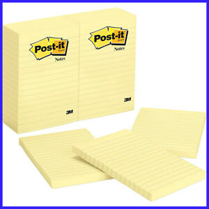 12 Pack Post it Notes Canary Yellow Lined 4 X 6