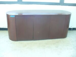 Real Mahogany Wood Executive Desk credenza Dimensions 20 X 72 5 X 29 5
