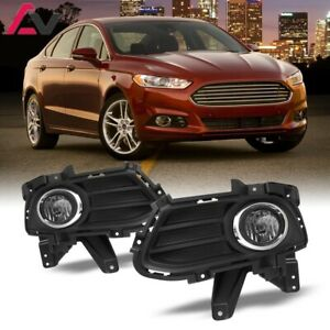 13 16 For Ford Fusion Clear Lens Pair Bumper Fog Light Lamp wiring switch Kit
