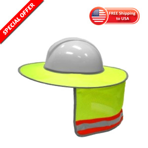 Hard Hat Sun Shield Sunshade Head Neck Nape Protector 100 Polyester Shade New