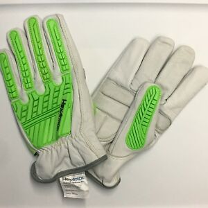 Hexarmor Leather Impact 8010 Oil Resistant Gloves Size 9 l Large