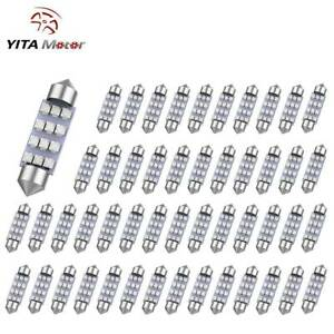 Yitamotor Blue 41mm Festoon 12smd Led Map Dome Interior Light Bulb 569 211 50pcs