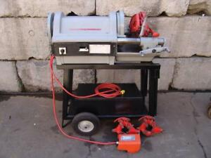Ridgid 1224 Pipe Threader Threading Machine 1 To 4 With 3 Dies