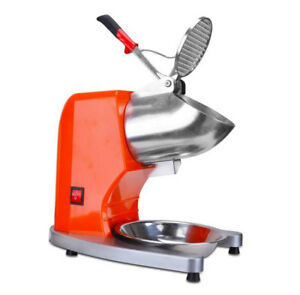 220v Electric Ice Shaver Crusher Commercial Snow Cone Machine 65kg h Th 168