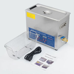 1 6 Gal 6l Ultrasonic Cleaner Stainless Steel W timer For Jewelry Denture