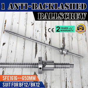 Anti Backlash Ballscrew Rm1616 650mm Bkbf12 High Efficiency 25 6inch Ball Nut